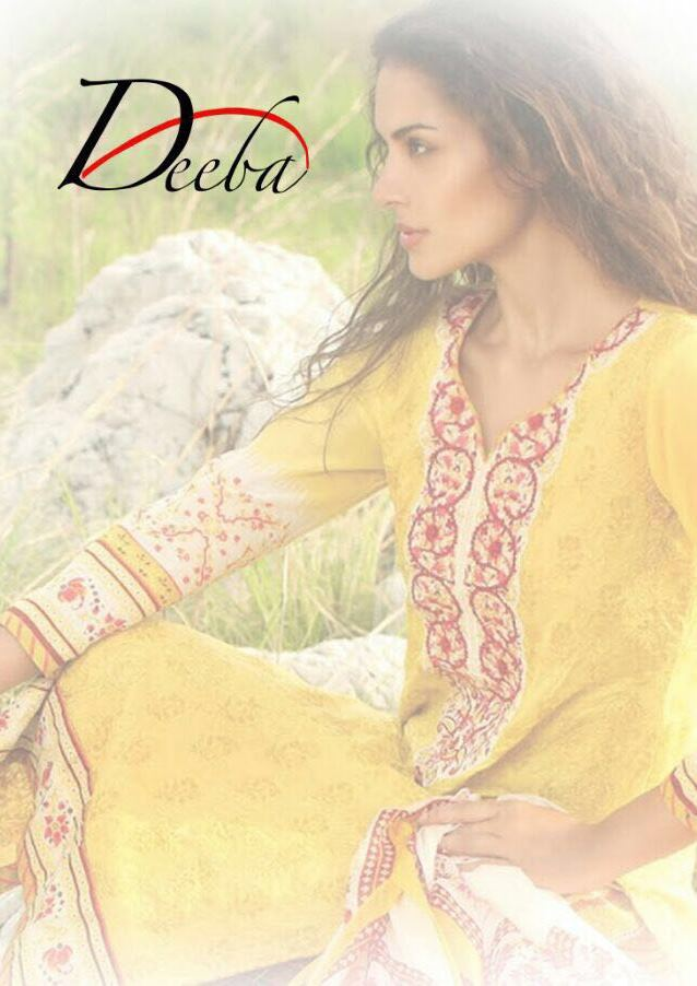 DEEBA PAKISTANI PRINTED SUITS