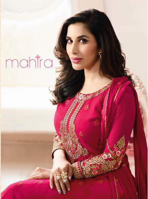 karma mahira salwar kameez wholesaler with top georgette bottom santoon with party wear and occational wear dress in surat india jptextiles price rs 1547