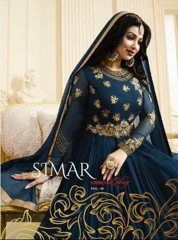 GLOSSY SIMAR RAMAZAN EID SPECIAL SUITS GEORGETTE COLLECTION WHOLESALE SURAT india jp textiles price rs 1999