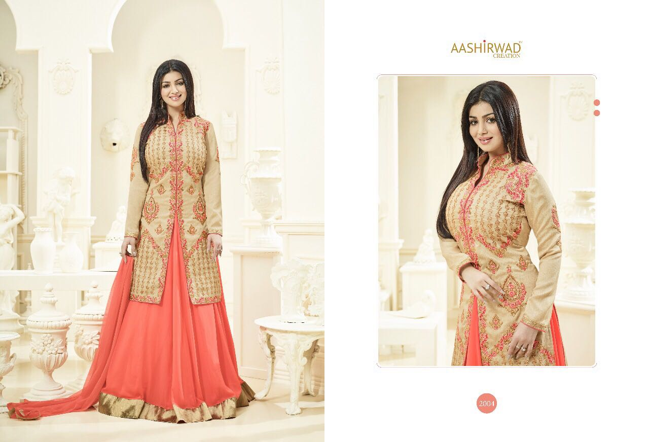 AASHIRWAD SAANVI VOL 2 DECLAIR TO A DESIGNER GOWNS AT WHOLESALE PRICE IN INDIA AT RS 1850
