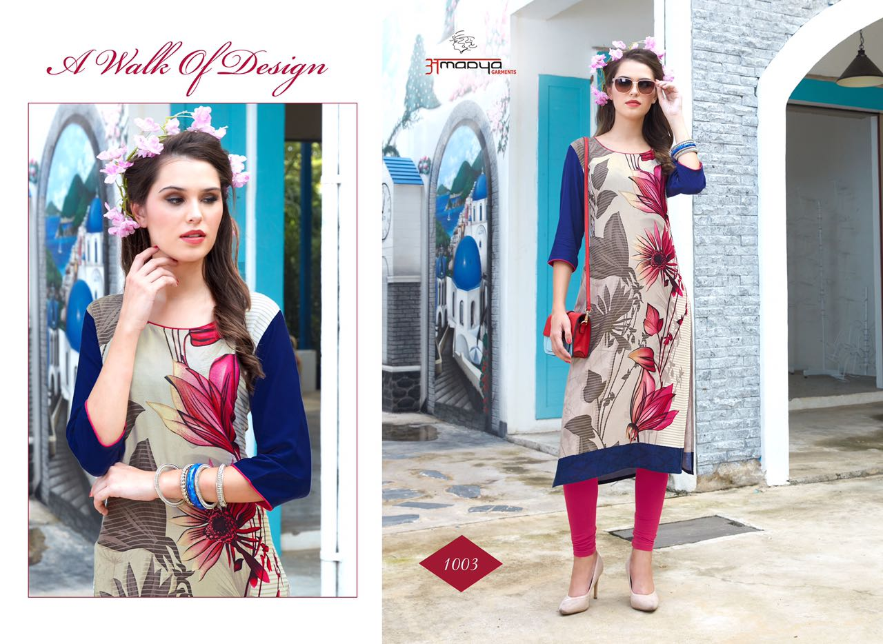AMAAYA DECLAIR TO A DESIGNER KURTI AT WHOLESALE PRICE IN INDIA AT RS 369