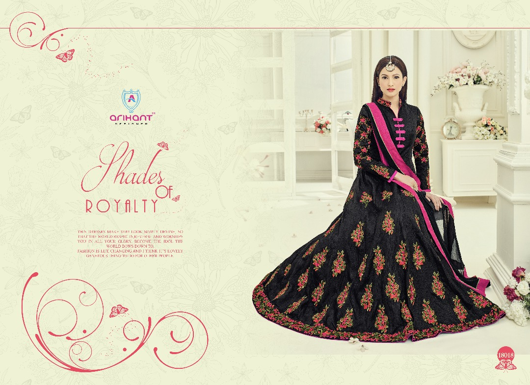 ARIHANT ROSSEL VOL 3 DECLAIR TO A DESIGNER COLORFUL GOWNS AT WHOLESALE PRICE IN INDIA AT RS 1895