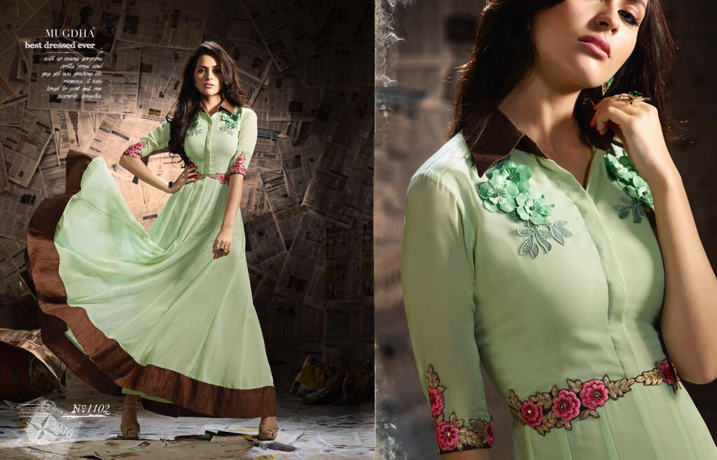 MUGDHA DECLAIR TO A DESIGNER GOWNS AT WHOLESALE PRICE IN INDIA AT RS 1674
