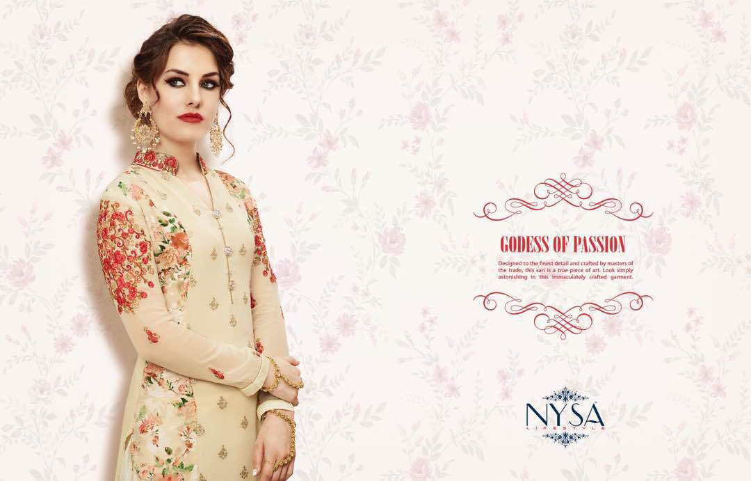 NYSA CREATED TO FANCY DESIGNER KURTI AT WHOLSALE PRICE IN INDIA AT RS 1245