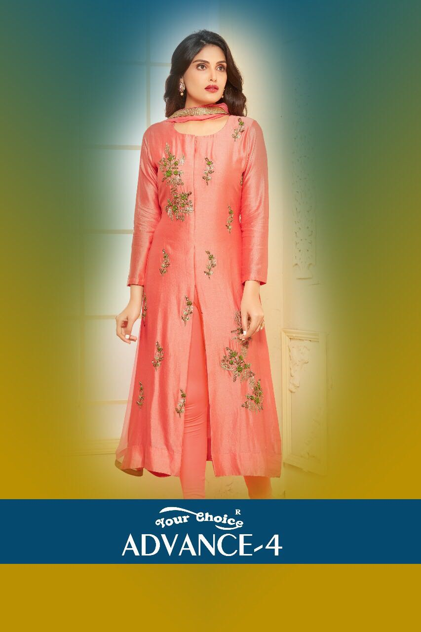YOUR CHOICE ADVANCE 4 DECLAIR TO A DESIGNER KURTI AT WHOLESALE PRICE IN INDIA AT RS 895