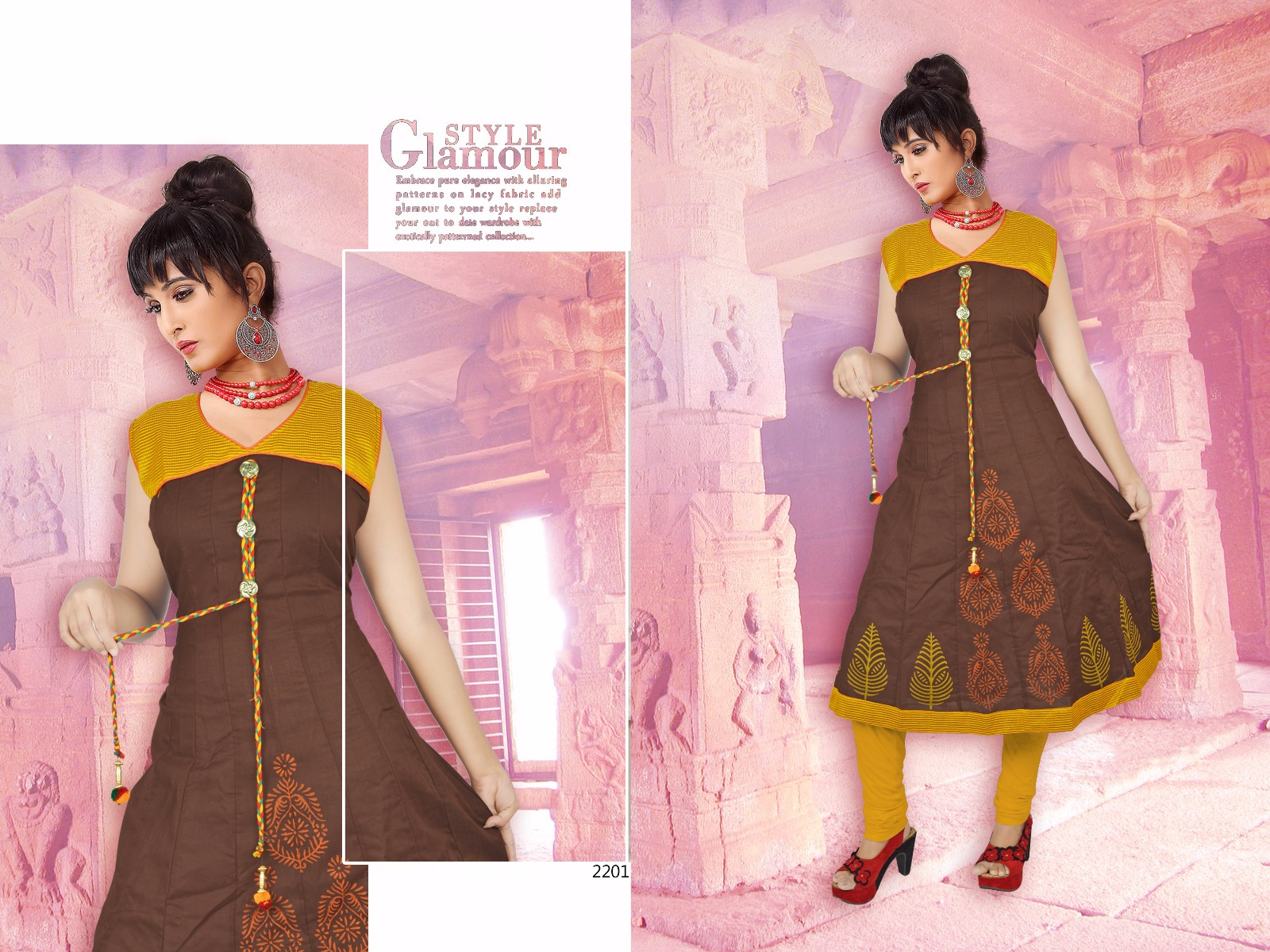 SWARN PANKH TAAJ AT WHOLSALER PRICE KURTI STATE INDIA AT PRICE RS 235.