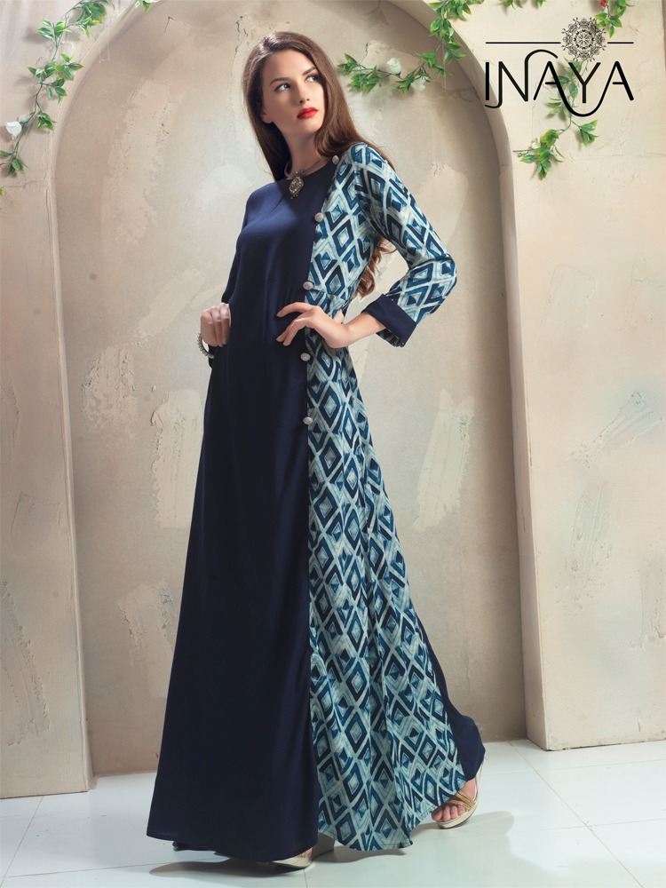 INAYA DECLAIR TO A DESIGNER KURTI GOWNS AT WHOLESALE PRICE IN INDIA AT RS 775