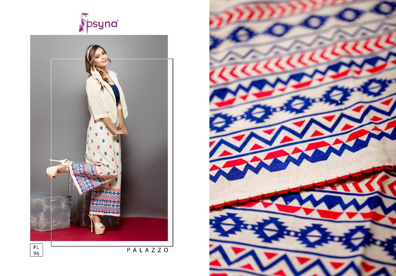 PSYNA DECLAIR TO DESIGNER PALLAZO AT WHOLESALE PRICE IN INDIA