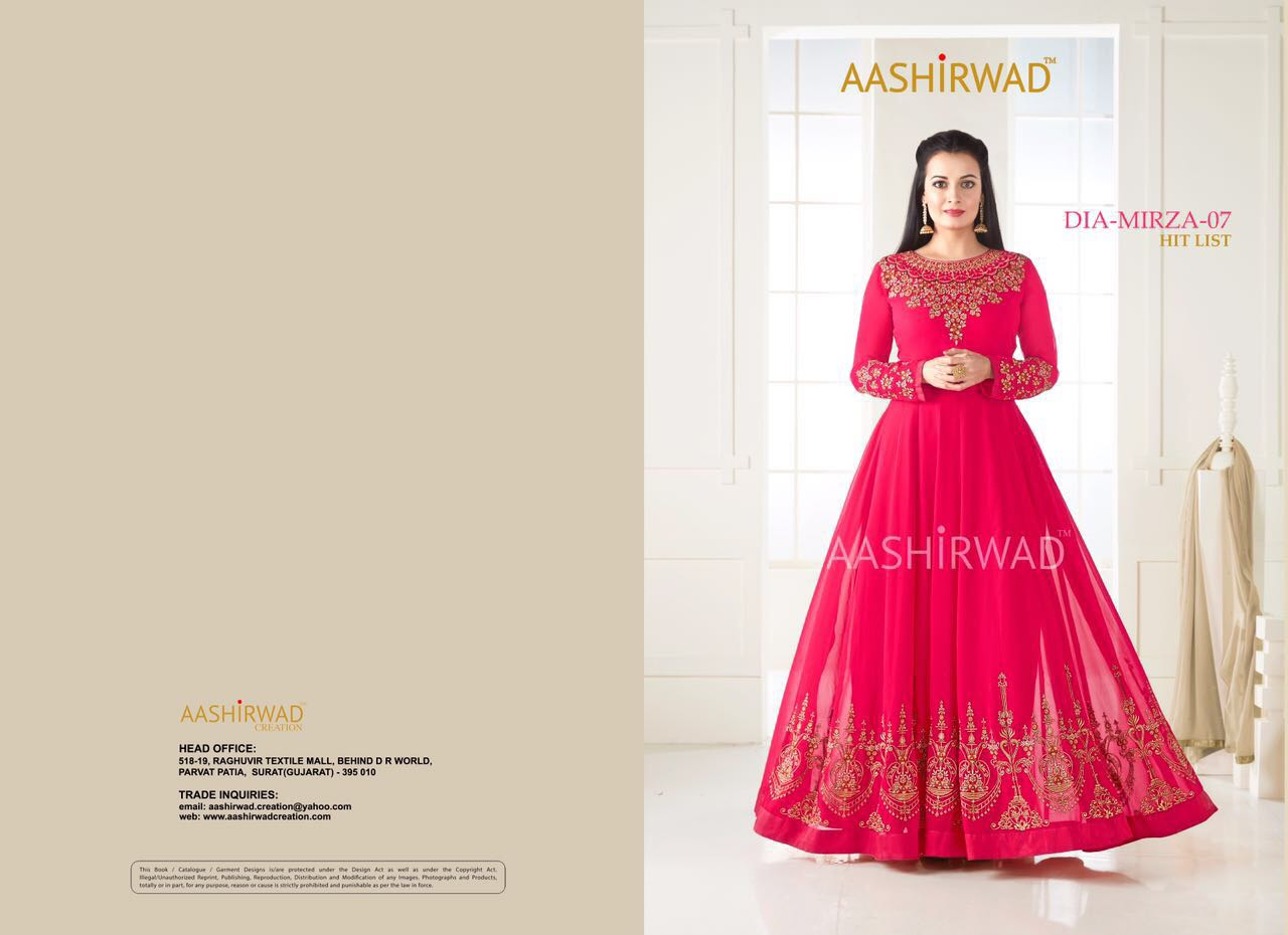 aashirwad dia mirza 7 hit list ON JPTEXTILES SURAT